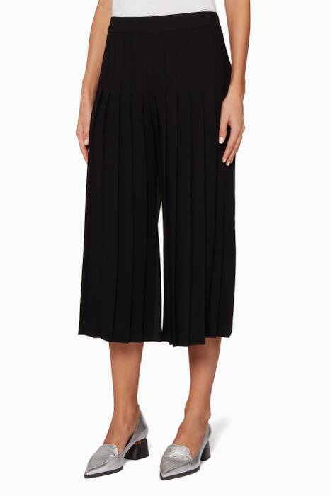 Black Pleated Front Pants