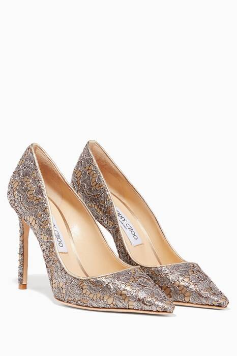 Vino & Silver Lace Romy Pumps