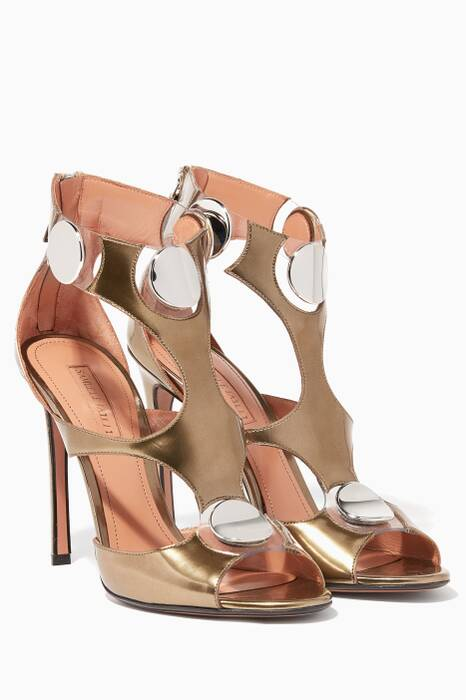 Metallic-Gold Bowie Sandals