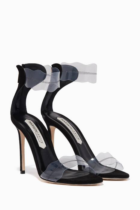Black Pauwau Plexi Sandals