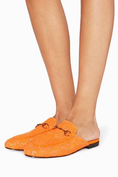 Orange Princetwon Lace Loafers