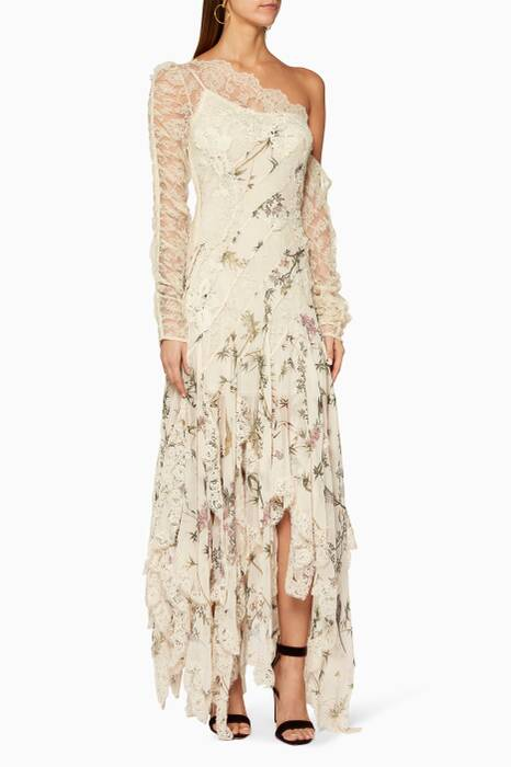 Cream Maples Temperance Long Dress