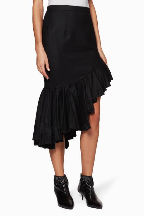 Black I Just Want To Be Free Skirt