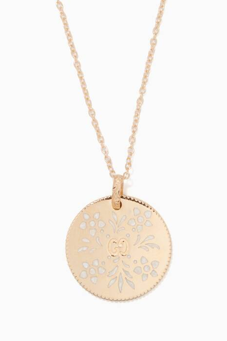 Yellow-Gold Icon Blossom Charm Necklace