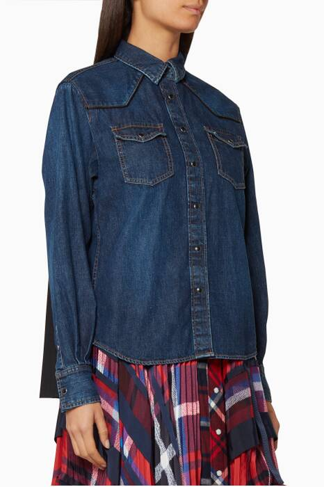 Denim Snap-Front Shirt