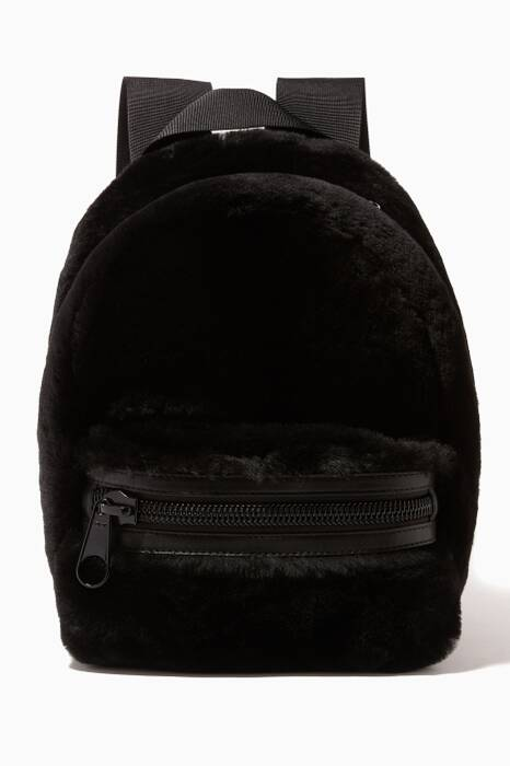Black Primary Shearling Backpack