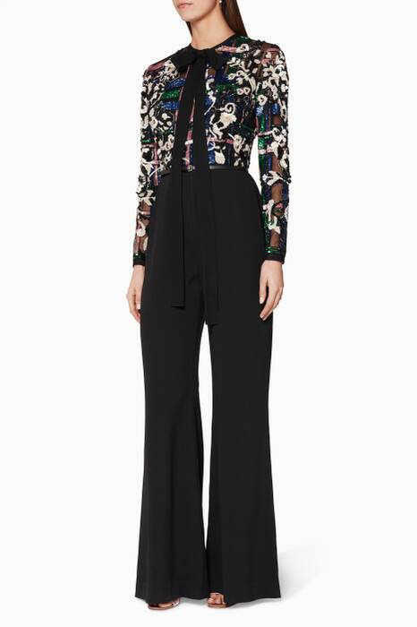 Multi-Coloured Sequined Jumpsuit