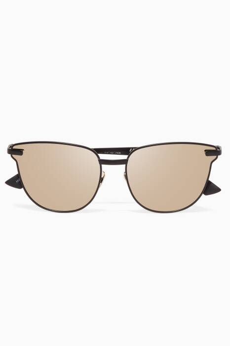 Matte-Black Pharoah D-Frame Sunglasses