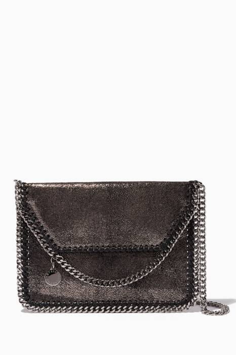 Dark-Grey Mini Chamois Falabella Cross Body Bag