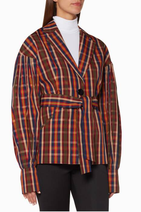Multi-Coloured Toybox-Checked Francois Jacket