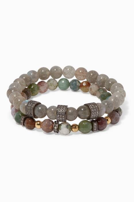 Multi-Colour Agate Stone Bracelet