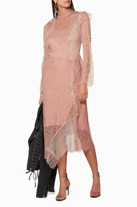 Blush Patchwork Lace Dress