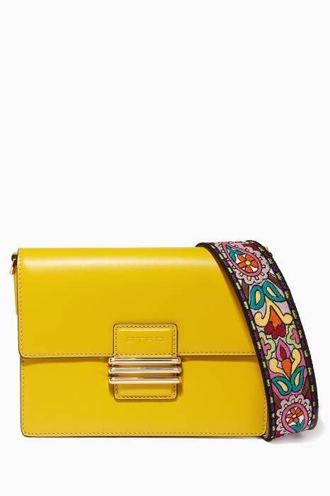 Yellow Fold-Over Shoulder Bag
