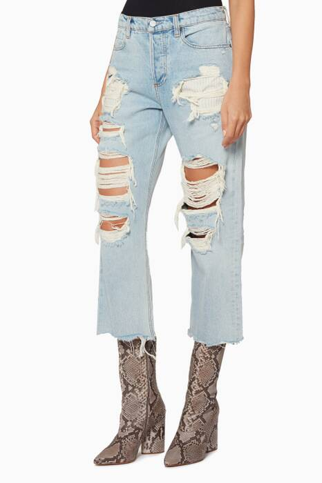 Light-Blue Rival Striped Jeans