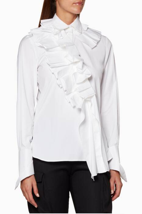 White Ruffle Shirt