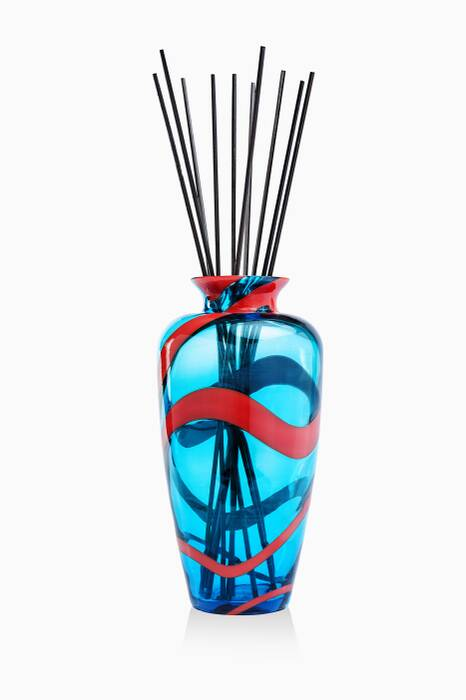 Tuquoise & Coral Snake Perfume Diffuser Vase