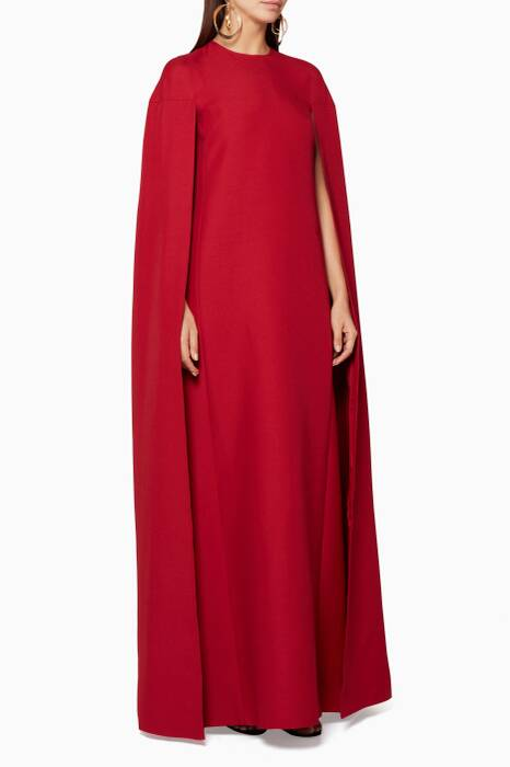 Red Cape Gown