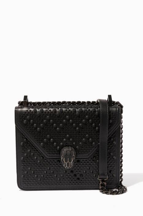 Black Serpenti Forever X Nicholas Kirkwood Shoulder Bag
