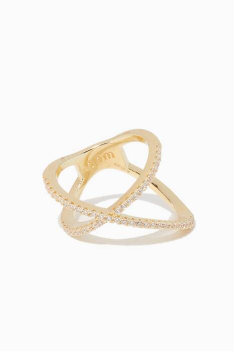 Yellow-Silver Promesse Ring
