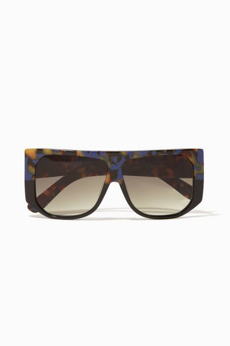 Tokyo Tortoise Frequent Flyer Square Sunglasses