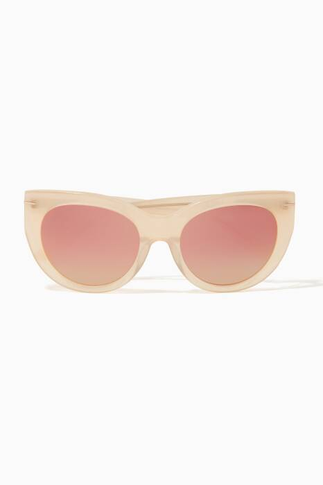 Nude Cat-Eye Runway Sunglasses