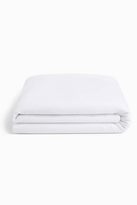 White King-Size Mattress Protector
