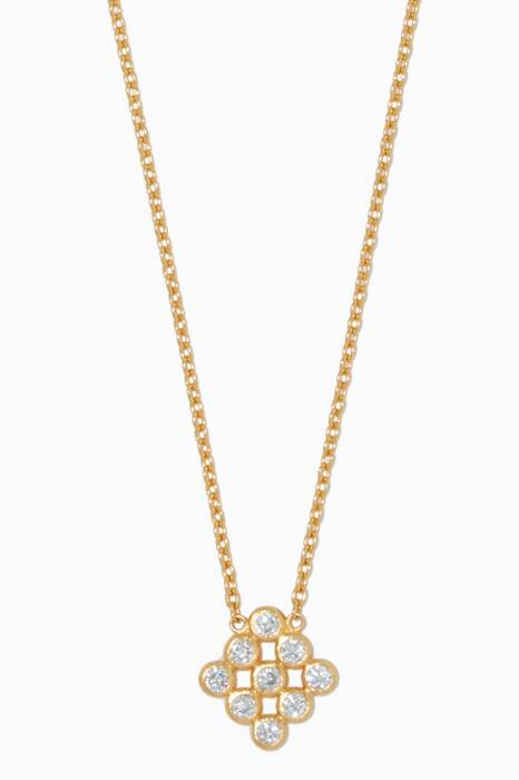 Gold Small Delicate Diamond Necklace