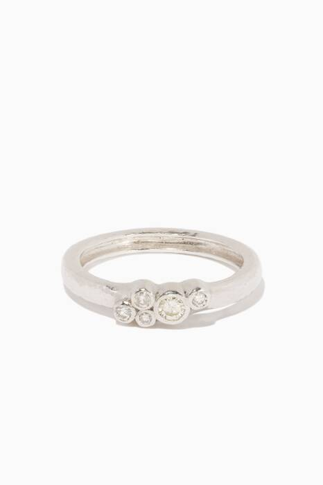 White-Gold Pointelle Diamond Ring