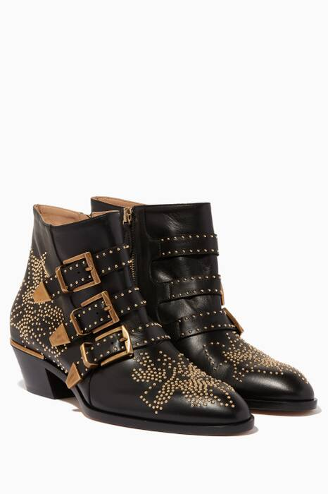 Black Classic Susanna Studded Boots
