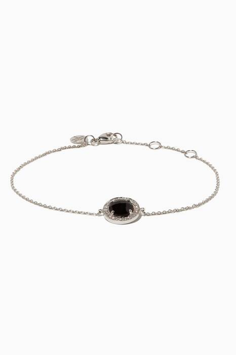 White-Gold, Diamond & Quartz Bestow Bracelet