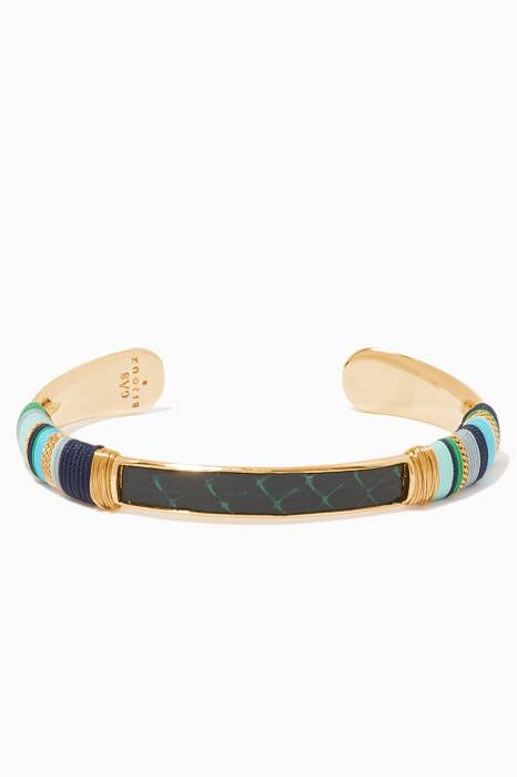 Gold & Blue Massai Bracelet