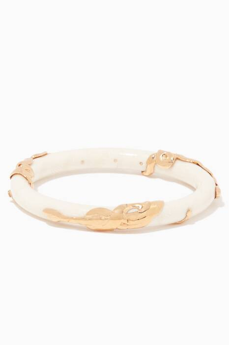 White Cobra Jonc Bangle