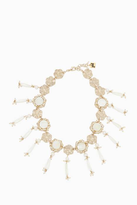 White Corte Pearl Necklace