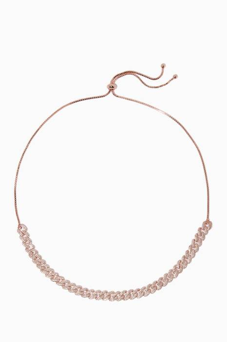 Rose-Gold Armure Pave Curb Choker
