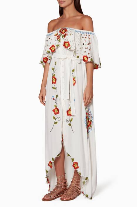 White Two Sundays Maxi Dress