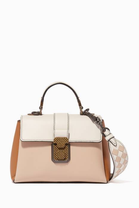 Beige Mini Nappa Piazza Cross-Body Bag