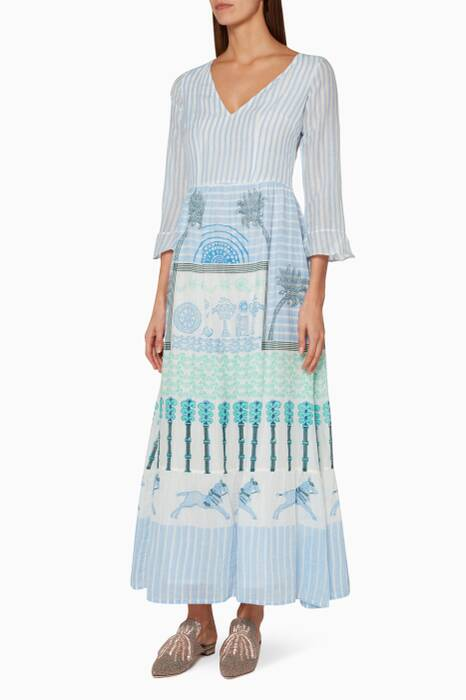 White Anita Horse & Palms Dress