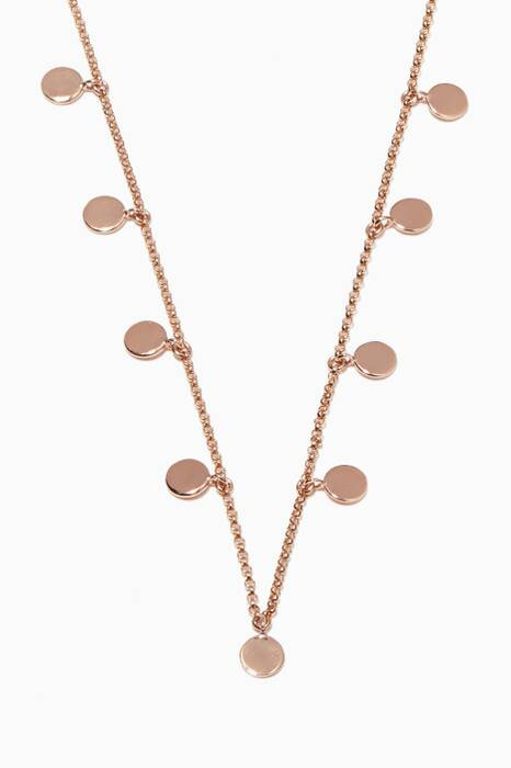 Rose-Gold 19 Charm Necklace