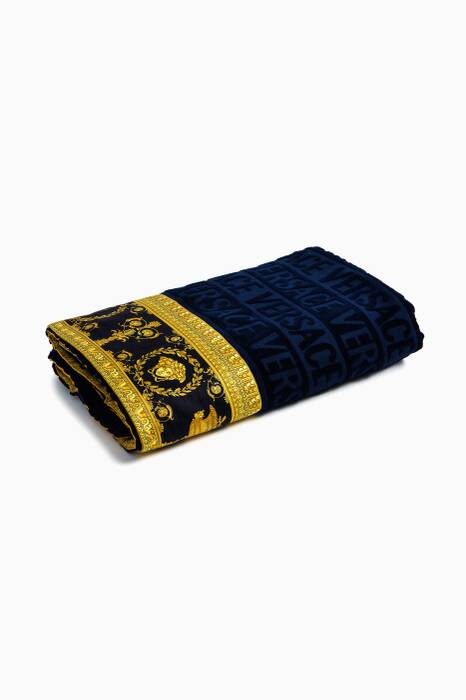 Blue Baroque Beach Towel