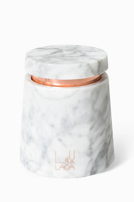 Oud Wood Marble Candle