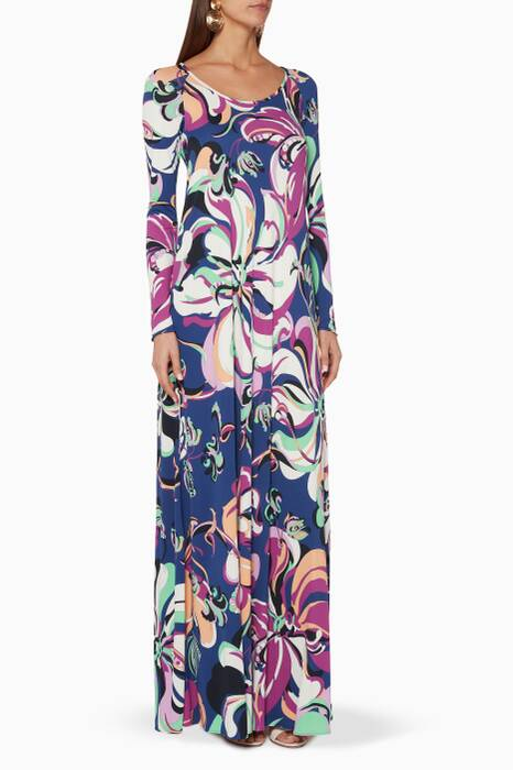 Multi-Colour Aruba Printed Dress