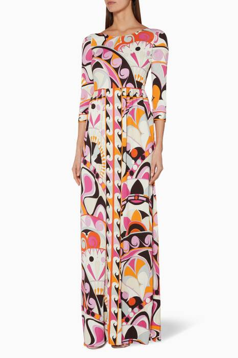 Pink Nigeria Printed Dress