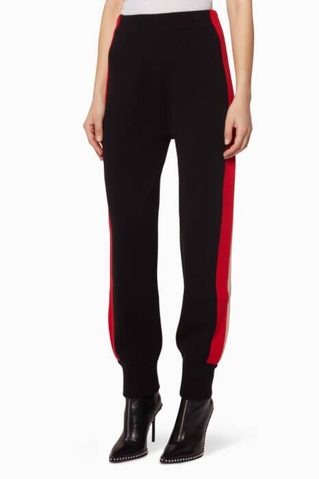 Black Sporty Knit Track Pants