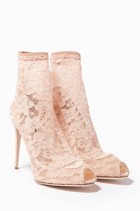 Blush Lace Bette Booties