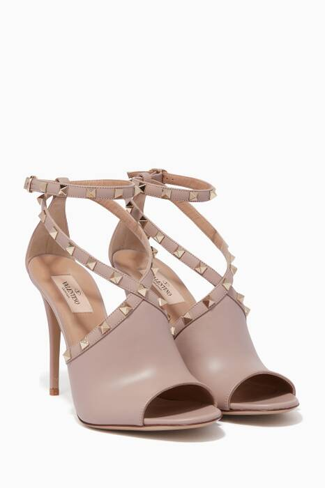 Light-Beige Rockstud Sandals