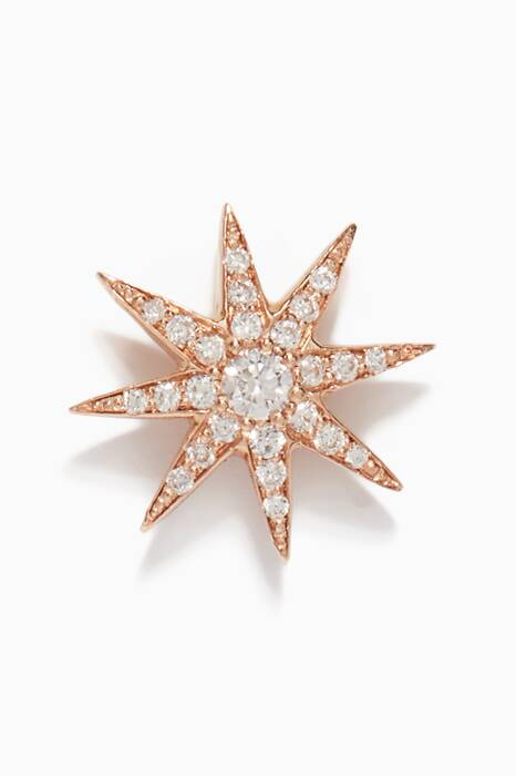 Rose-Gold & Diamond Twinkle Stud Earring
