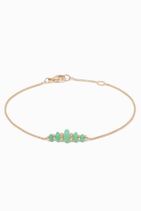 Yellow-Gold & Chrysoprase Rio Rondelle Chain Bracelet