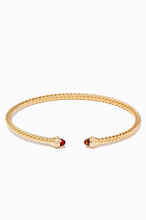 Gold & Citrine Cable Spira Bracelet