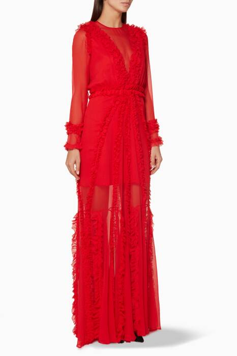 Red Ruffled Janine Gown