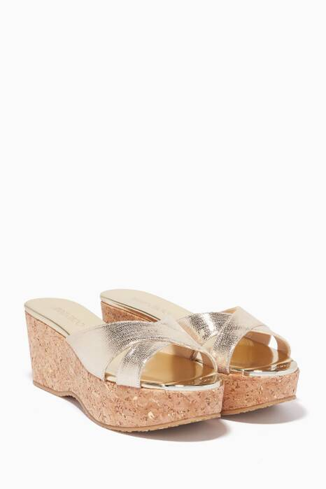 Gold Metallic Prima Wedges